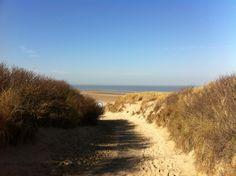 De duinen van natuurgebied en strand 't Zwin, Retranchement.