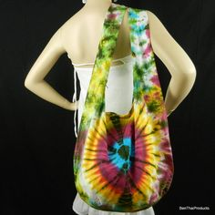 Tie Dye Sling Bag Purse Hobo Hippie Messenger