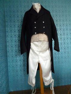 Men's suit about 1810 (replica). Made by Corina van der Linden  - Crien-oline.
