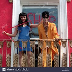 Prince Singer performer on balcony with dancer Mayte Garcia during visit to London Stock Photo Prince And Mayte, My Prince, Mayte Garcia, Princes Fashion, Starfish And Coffee, The Artist Prince, Pictures Of Prince, Dearly Beloved, Roger Nelson