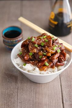 The Iron You: Mongolian Beef (Low Carb & Gluten-Free) sub low cal sweet er and serve over cauliflower ric to make low carb