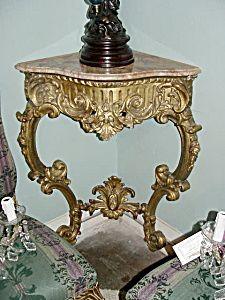 Louis XV Carved Giltwood Cornertable