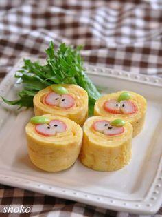 椎茸の肉詰めの照り焼きとピーマンの明太子バター炒めのお弁当 の画像|Herisoon