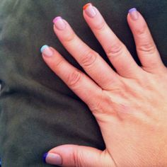 Springy French Manicure