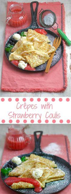 Crêpes with Strawber