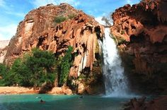 Next time I go to Vegas, I want to go hiking in the Grand Canyon and swim underneath this waterfall. (me too!)