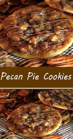 Pecan Desserts, Pecan Recipes, Cookie Desserts, Apple Recipes, Easy Desserts, Sweet Recipes, Baking Recipes, Cookie Recipes, Delicious Desserts