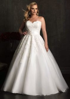 Dress style W320 by Allure Bridals.
