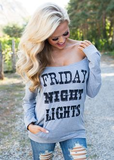 Boutique, Online Boutique, Women's Boutique, Modern Vintage Boutique, Top, Long Sleeve Top, Grey Top, Off the shoulder Top, Friday night Lights Top, Cute, Fashion