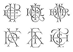 These are beautiful monograms