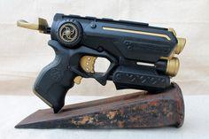 Steampunk Nerf Gun, Firestrike Blaster, Zombie, Vampire, Post Apocalyptic, Sci-Fi, LARP, Cosplay Role Play, Custom Hand Painted Prop Weapon
