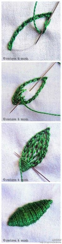 Embroidery Stitches- very nice detail on stitches
