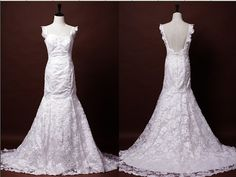 Hey, I found this really awesome Etsy listing at http://www.etsy.com/listing/157616480/vintage-style-lace-wedding-dress-mermaid