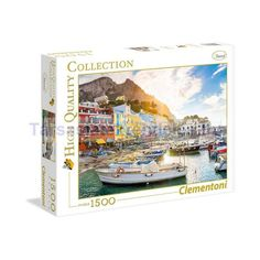 Puzzle 1500 db-os - Capri - Clementoni (31678) Capri, Puzzle, Puzzles, Riddles, Quizes