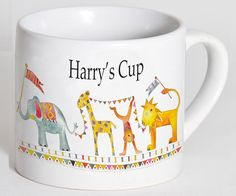 Child's Cup,Toddler Cup, Kids Cup, Christening Gift,Baptism Gift,1st Birthday Gift,Personalised Cup, Jungle Parade Cup by TigerlilyprintsLtd on Etsy