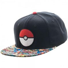 fe023a78f85 Pokemon Pokeball Sublimated Bill Snapback
