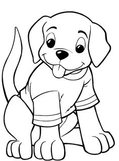 coloring pages of puppies and kittens - az coloring pages | kids ... - Puppy Coloring Pages Print
