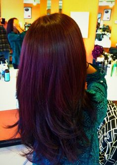 Autumn Hair Color! I love the new plum brown trend for Fall 2013.