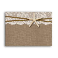 The Rustic Starfish Beach Wedding Collection Envelope