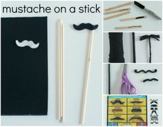 How to Make Mustache Crafts makeandtakes.com