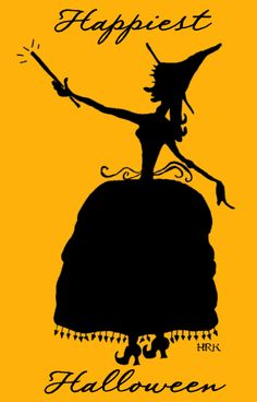 SkullBlossom: Free Web Graphics and Clipart: Free Halloween Graphic: Witch Silhouette