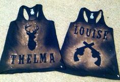 Hey, I found this really awesome Etsy listing at https://www.etsy.com/listing/193332839/thelma-and-louise-tank-set