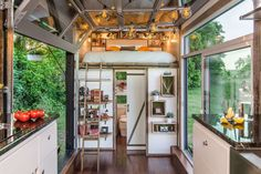 Alpha Tiny House - New Frontier Tiny Homes - Nashville - Living Room and Loft - Humble Homes