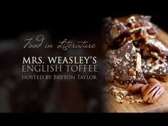 Mrs. Weasley's English Toffee recipe and video   Harry Potter   In Literature