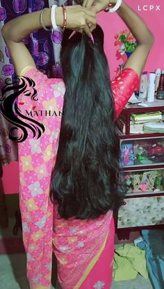 Long Silky Hair, Long Dark Hair, Very Long Hair, Indian Hair Cuts, Indian Long Hair Braid, Long Hair Ponytail, Braids For Long Hair, Wavy Hair, Loose Hairstyles