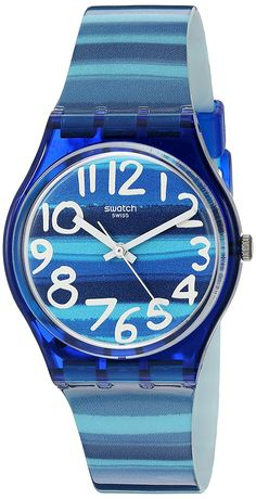 Swatch Unisex GN237 Blue Plastic Watch * Check out the image by visiting the link.