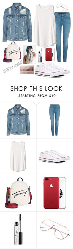 """""""Untitled #242"""" by daniela95140 on Polyvore featuring Topshop, Gap, Converse, Tommy Hilfiger, MAC Cosmetics and Maybelline"""