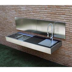 Fesfoc Wandschutz Edelstahlplatte satiniert / poliert für Barbecue / Holzkohle Grill
