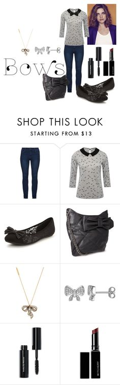 """""""bows on it"""" by armsdani ❤ liked on Polyvore featuring M&Co, Miadora, Marc Jacobs, Laura Ashley, Bobbi Brown Cosmetics and Witchery"""