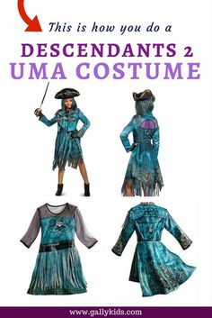 Uma Costume ideas from the Descendants 2 movie for when your teen or tween fancies dressing up as this lovable antagonist in the movie :-) -- with a few DIY instructions.