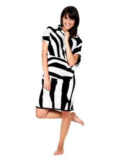 d5ecdc2d37 Terry Rich Australia Surf Poncho Zebra Summer Cover Up