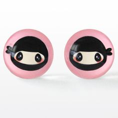 Ninja post earrings from Atomic Lace