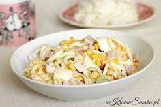 Sałatka z jajkiem, szynką i porem | W Krainie Smaku