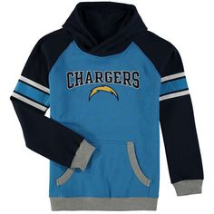 Los Angeles Chargers Youth Fan Gear Robust Pullover Hoodie - Light Blue/Navy - $49.99