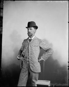 William Henry Jackson, 8/1892. I am assuming this is a self portrait of the renound photographer William Henry Jackson. Photographer for the Detroit Publishing Company on 8x10 glass plate negative.