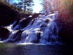 Salt Creek Falls after a flash flood in Talladega National Forest, Alabama.