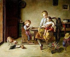Edmund Adler (1876 – 1965, Austrian)--Feeding The Young