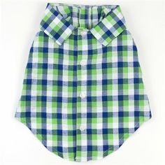 A preppy summer shirt for dogs up to 85 lbs.