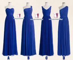 Royal blue bridesmaid dresses cheap bridesmaid by wishuponwedding,