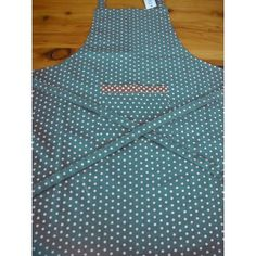 Spot Apron Turquoise and White