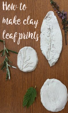 How to make leaf  prints in clay. A really simple craft from nature. Nature crafts are always thrifty and fun, These would make fabulous homemade Chrismas decorations for the tree too
