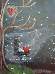 I am a huge fan of Shawna Erback. Was inspired by her. Illustration Art Dessin, Art Amour, Art Fantaisiste, Art Mignon, Jolie Photo, Angel Art, Fairy Art, Moon Art, Heart Art
