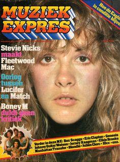 Stevie Nicks on the cover of Muziek Expres September 1977