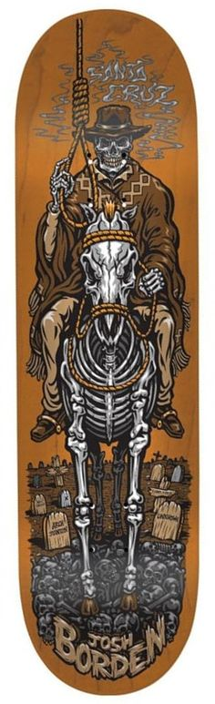 Santa Cruz Skateboards Borden Cowboy Pro Skateboard