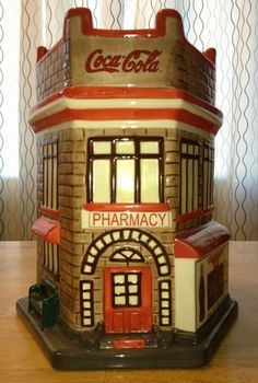 *COCA-COLA ~  Drug Store Cookie Jar Coca-Cola, Coke