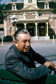 """Walt at Disneyland. Probably 1966. Einstein and Disney had this philosophy in common... """"Imagination is more important than knowledge. For knowledge is limited to all we now know and understand, while imagination embraces the entire world, and all there ever will be to know and understand."""" Albert Einstein"""
